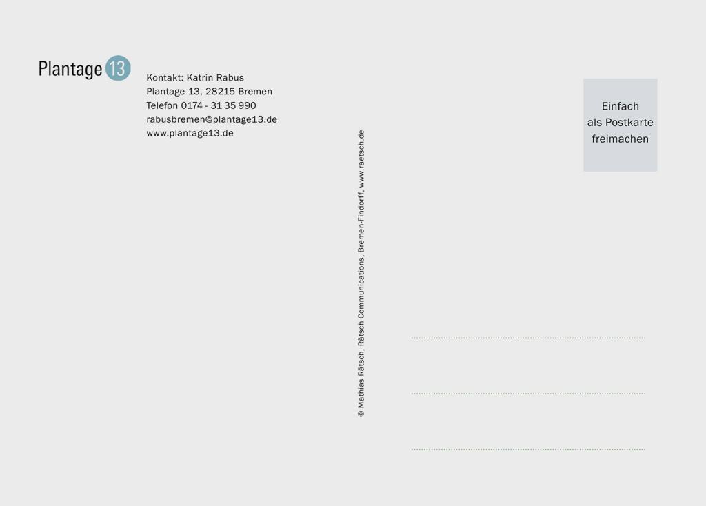 Die 1. Postkarten-Edition · Sponsor: Rabus Kulturprojekte. Vielen Dank!