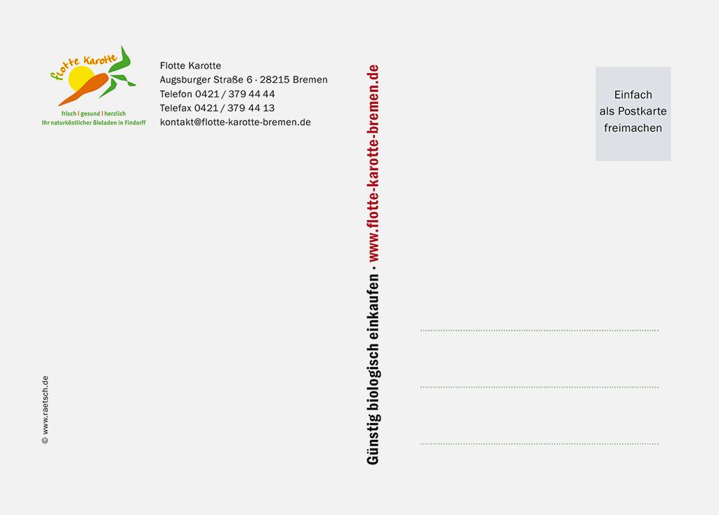 Die 1. Postkarten-Edition · Sponsor: Flotte Karotte. Vielen Dank!