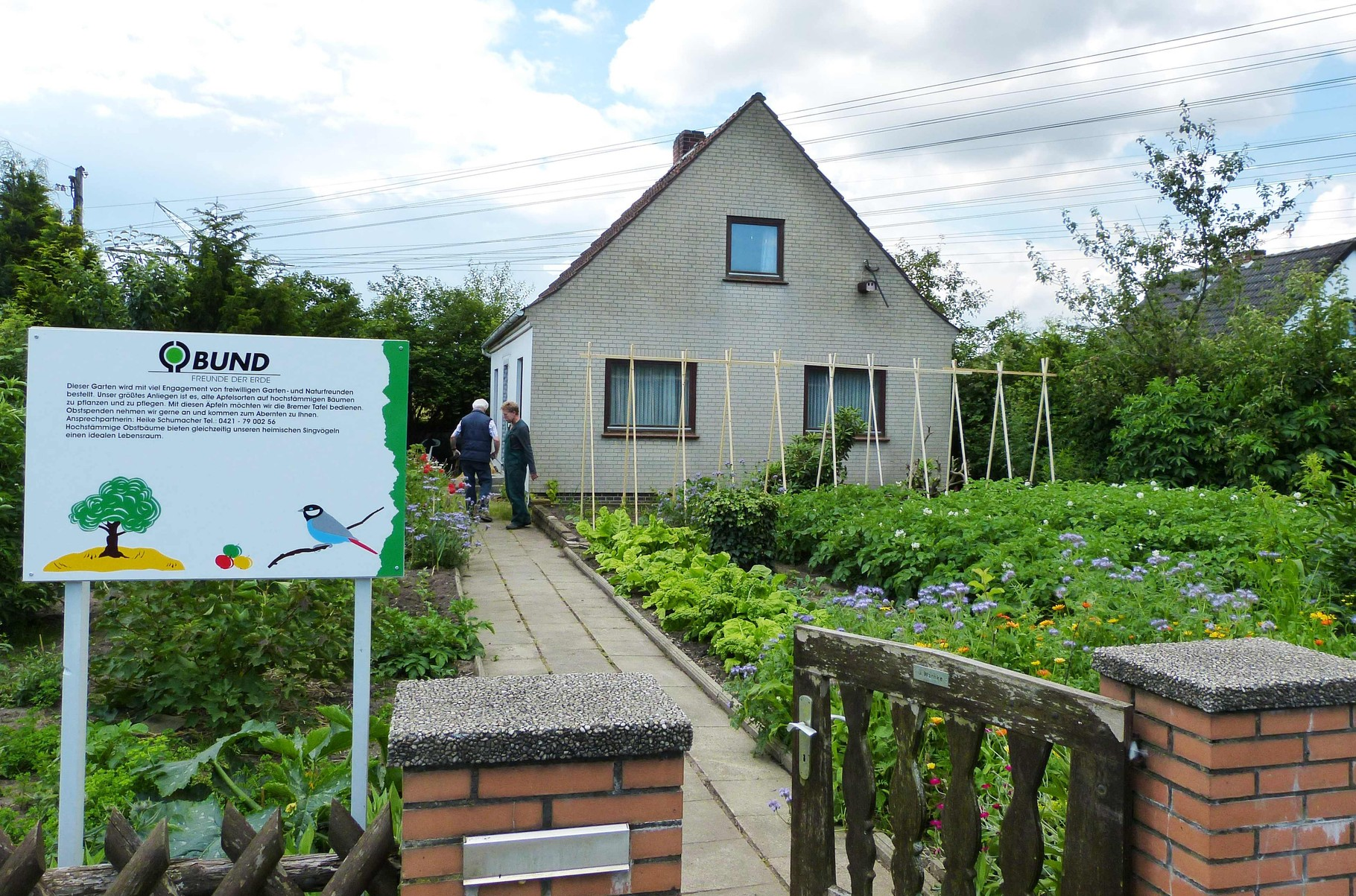 Aus einem verlassenen Kleingarten wurde ein vielfältiges BUND-Projekt im Kleingartenverein Eiche in Findorff