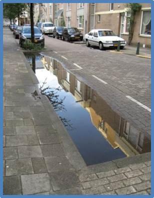 Rückhaltmöglichkeiten für Regen - hier Rotterdam
