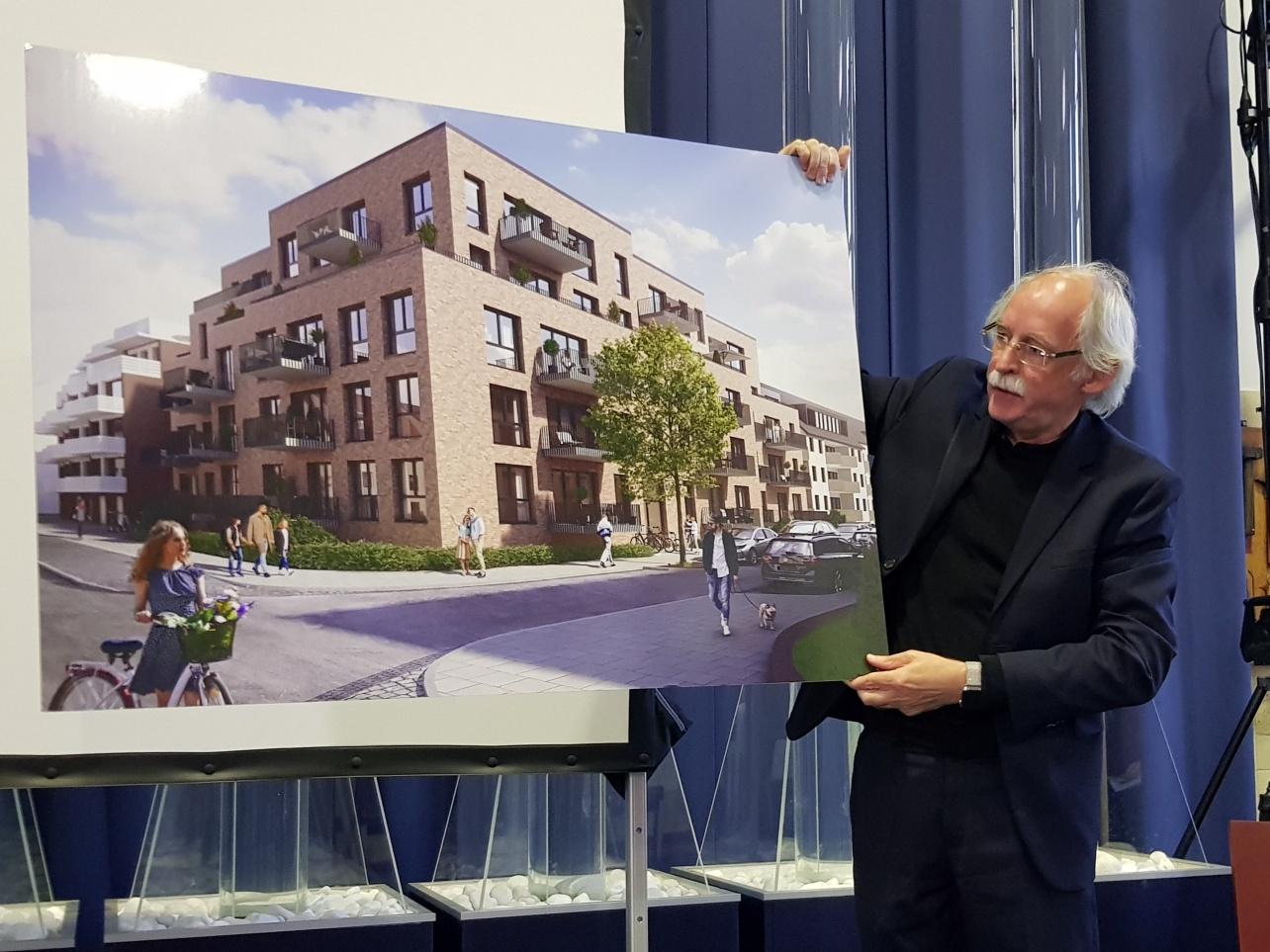 """Der Architekt Hans Jürgen Hilmes hat das Bauvorhaben """"Findorff Living"""" geplant."""