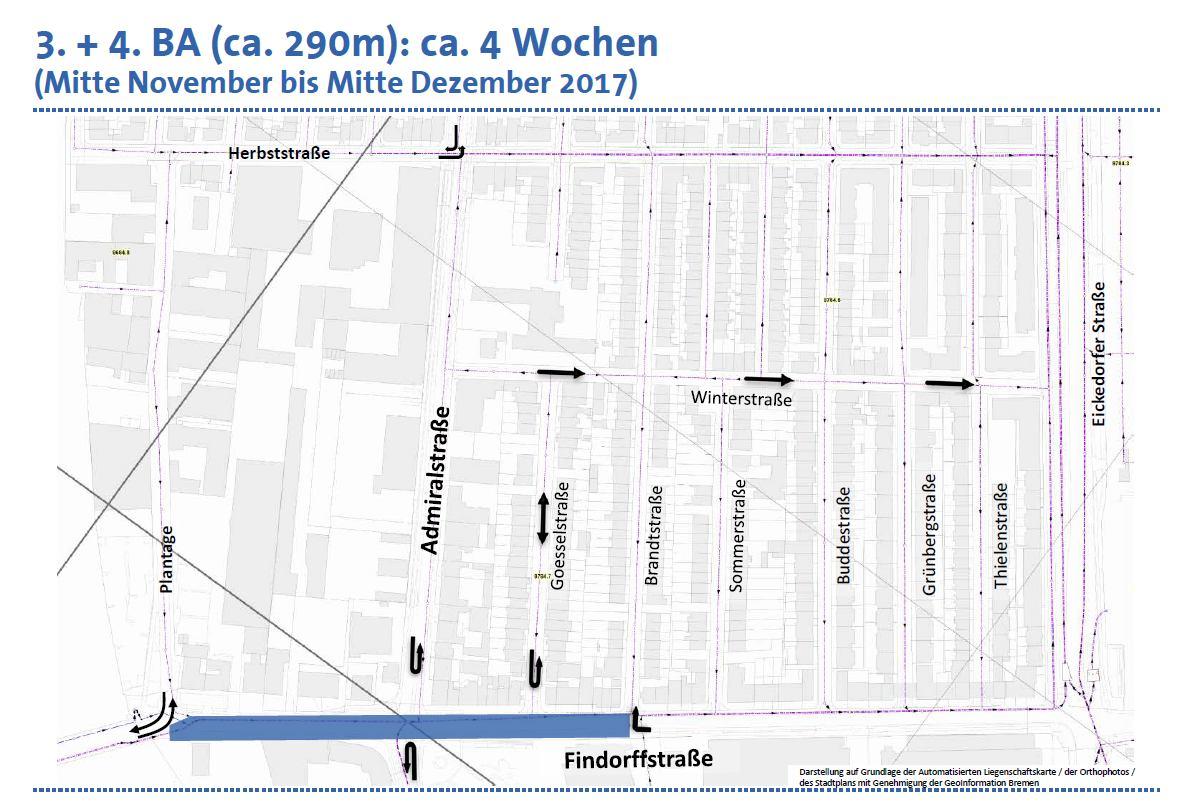 6. Plantage bis Höhe Brandtstraße  ©hansewasser