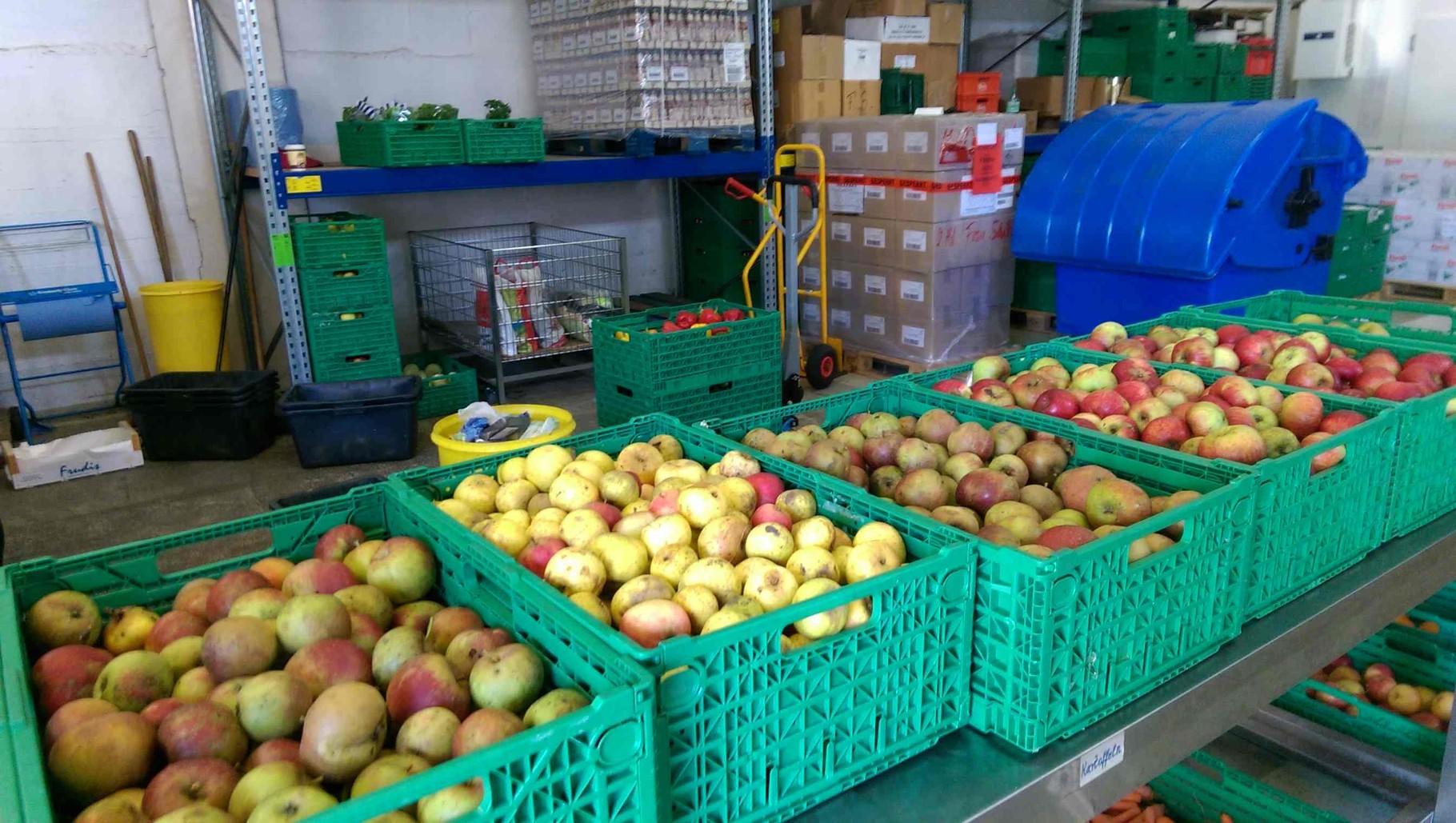Frisches Obst für die Bremer Tafel