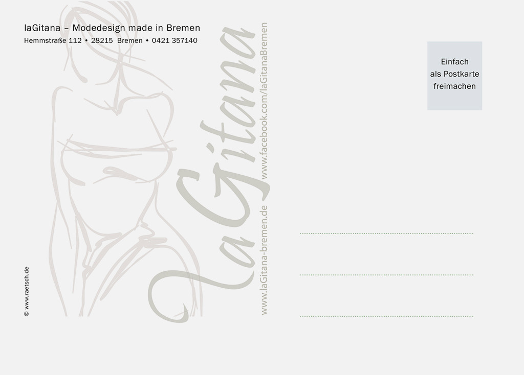 Die 2. Postkarten-Edition · Sponsor: laGitana. Vielen Dank!