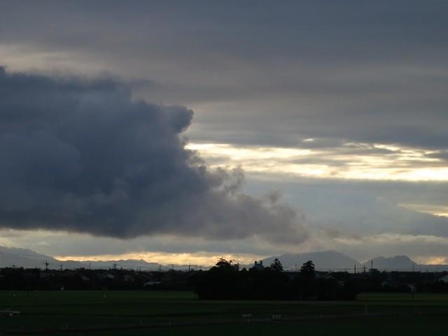 嵩山(だけさん)と和久羅山(わくらやま)より八雲立つ