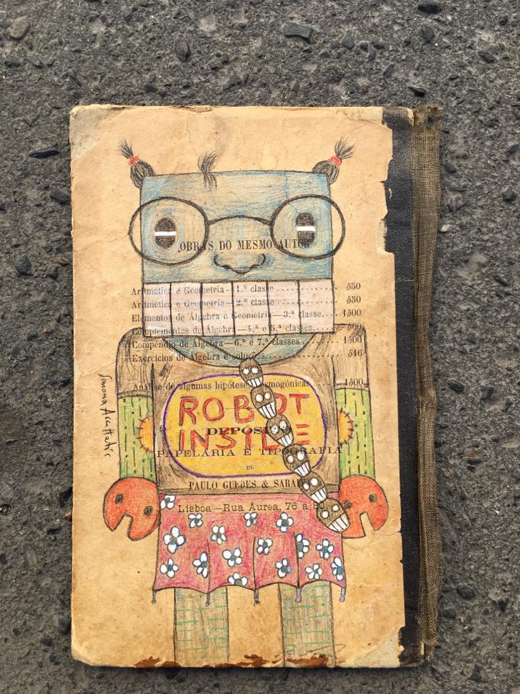 Marisa robot, color pencil, original ! For sell!