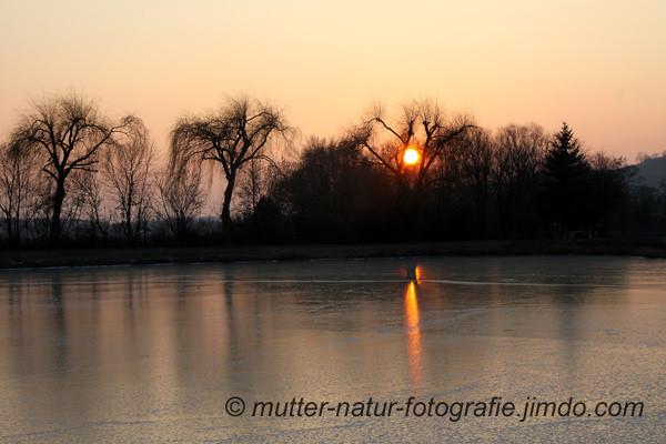 St. Urbansee, zugefroren