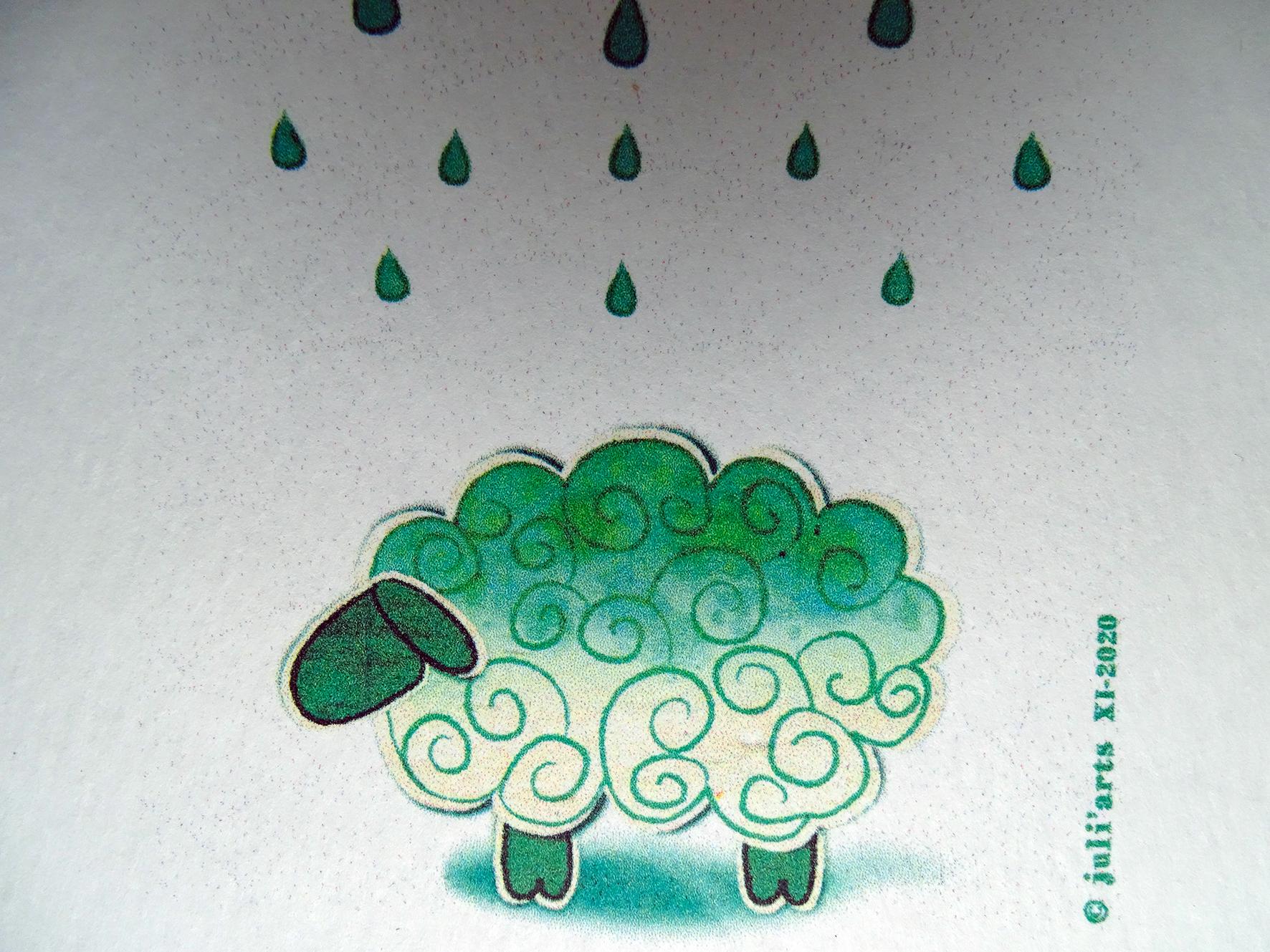 """""""Tye & Dye"""" Mouton / Tirage numérique sur papier aquarelle / 3€ pièce hors fdp / 4 derniers exemplaires!"""