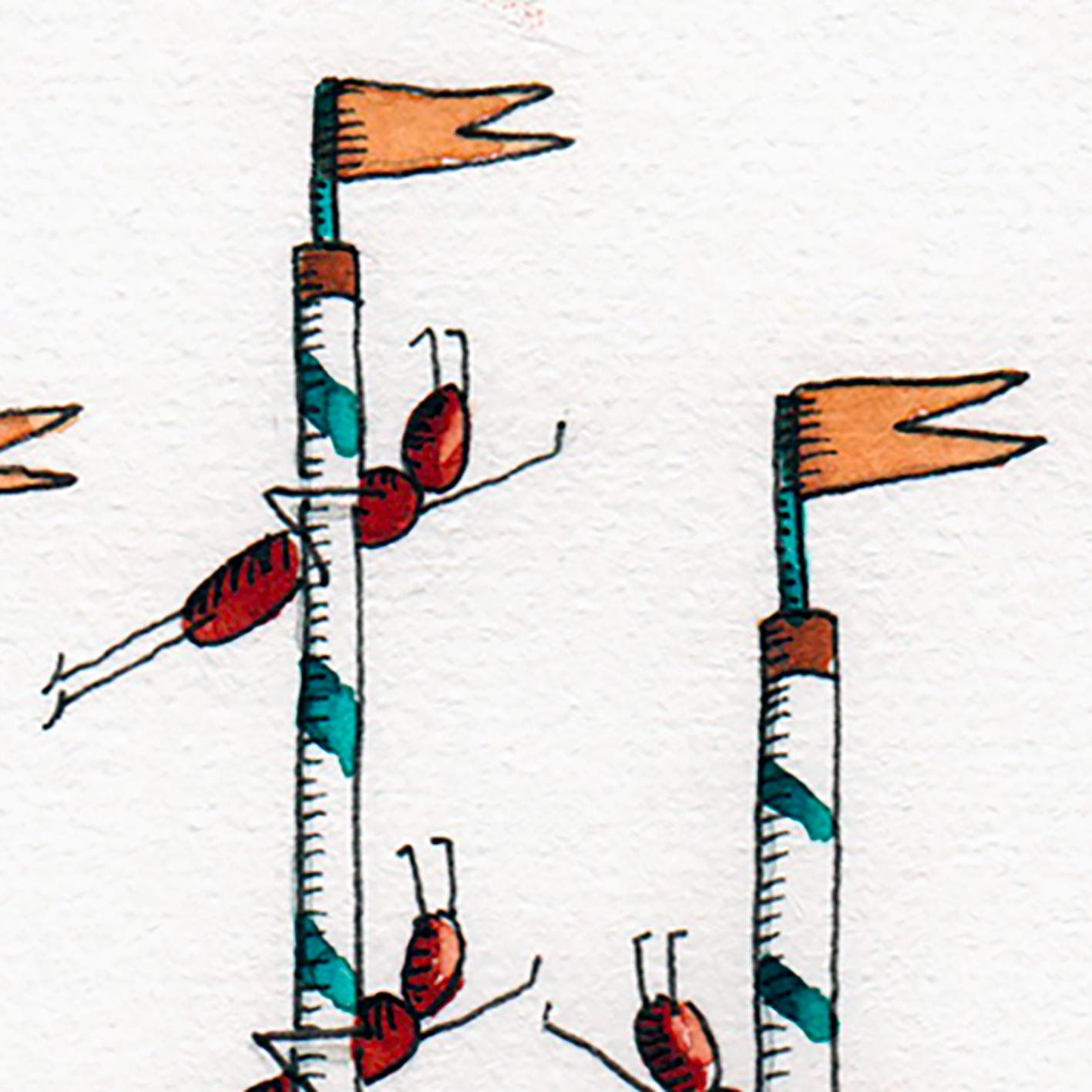 """""""Amazing Circus B"""" détail / Aquarelle sur papier, encre de chine / 65€ hors fdp"""
