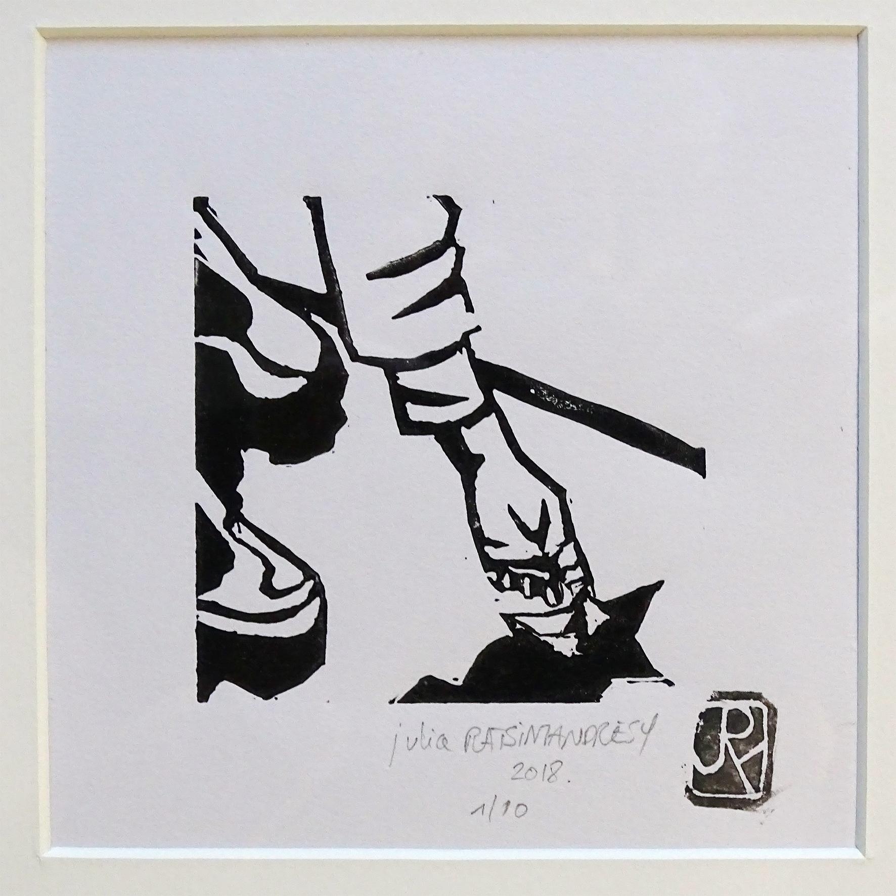"""""""Vive la pluie III"""" ©Julia Ratsimandresy / Linogravure encre noire sur papier, tirage 1/10 signée / 50€ hors fdp"""