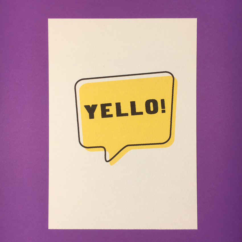 """""""Color Moods YELLO!"""" Tirage numérique sur papier aquarelle / 2,50€ pièce hors fdp / 4 derniers exemplaires!"""