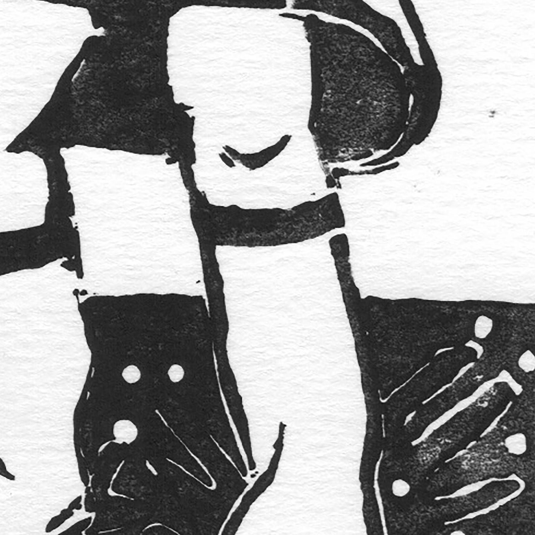 """""""Vive la pluie I"""" détail / Linogravure encre noire sur papier / 50€ hors fdp"""