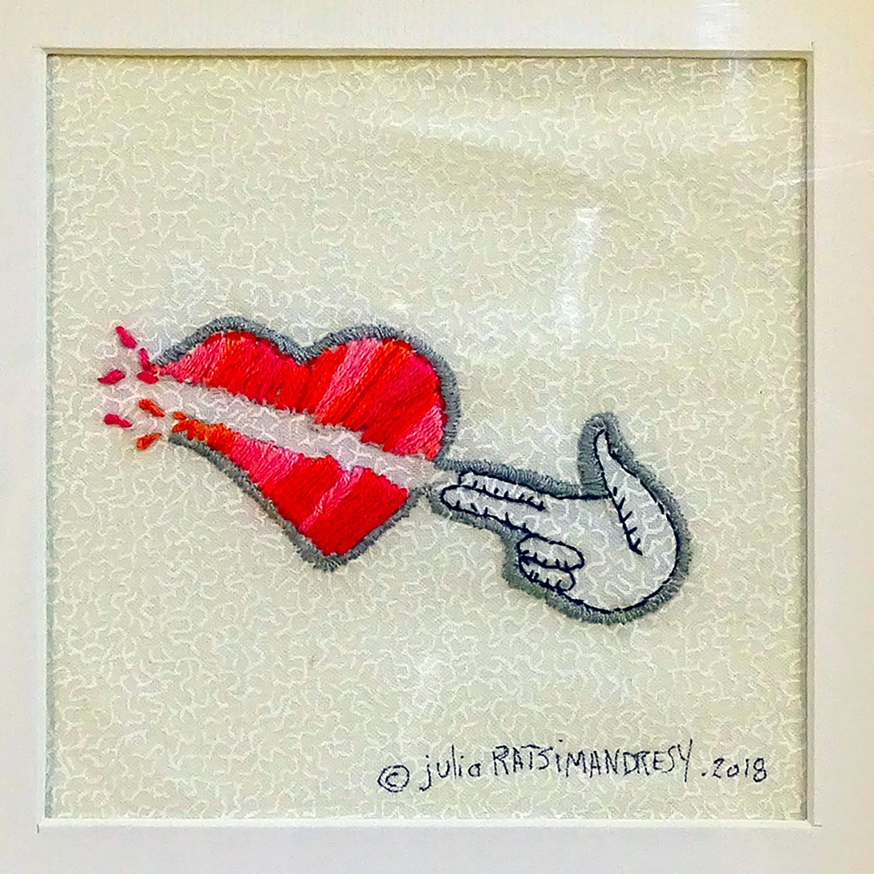 """Bang! Bang!"" ©Julia Ratsimandresy / Cadre bois+passe-partout papier+verre / 90€ hors fdp"