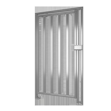 К-10 Portillon pleine hauteur de l'acier inoxydable poli