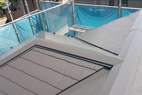 大屋根コロニアル塗装