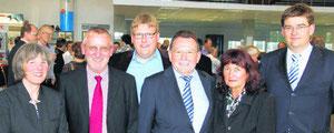 von links nach rechts: Gisela und Paul Mäder, Michael, Werner, Waltraud und Christian Stark