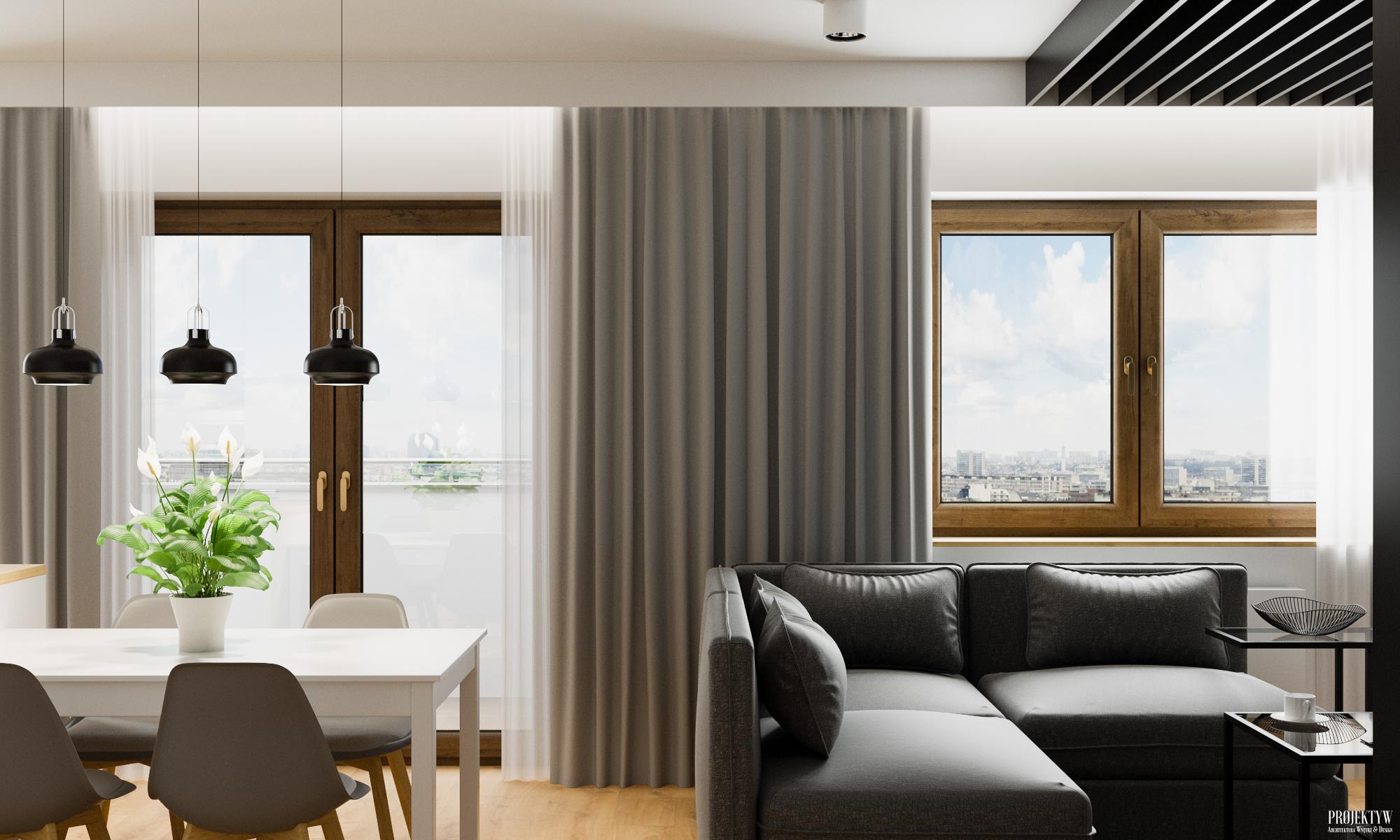 Projekt wnętrza mieszkania w stylu skandynawskim