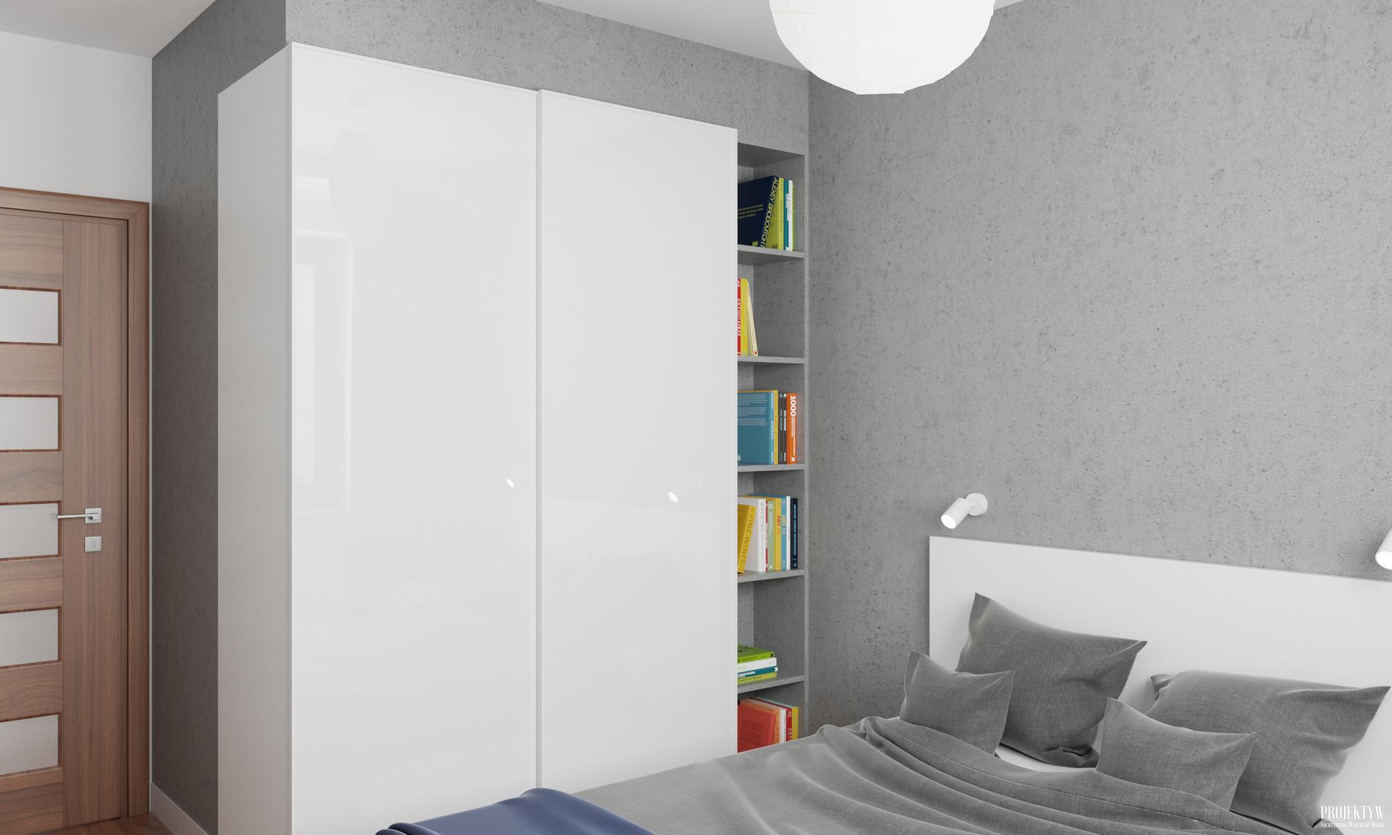 Zabudowa w sypialni z Ikei