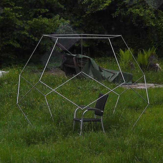 Foto: Dodekaeder im Garten als Wellnessoase, Meditationshilfe - Stille und Ruhe finden