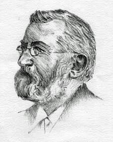 Ernst Krause, Porträtzeichnung aus den 1890er Jahren