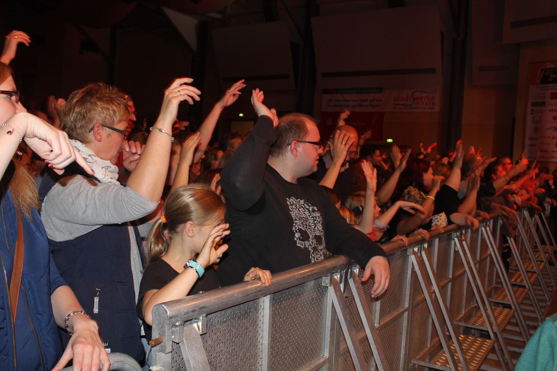 Begeistertes Publikum in der restlos ausverkauften Stadthalle.