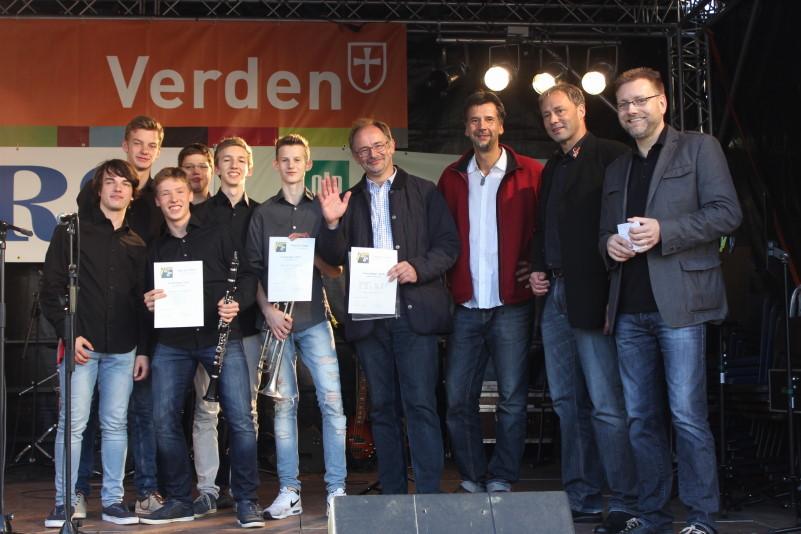 Überreichung des OLB-Bandpreises an die...                   Bild: M.Staedler