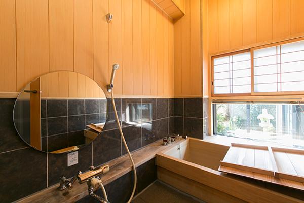 客室桧風呂 嵐山