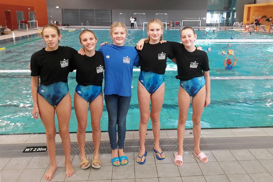 Fünf Mädchen vom WSW Rostock in der Nordauswahl
