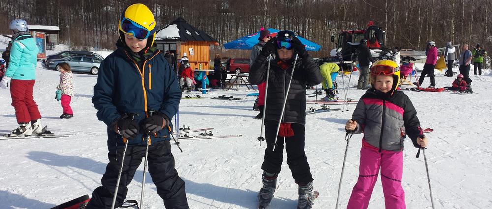 Bereit zum Skifahren