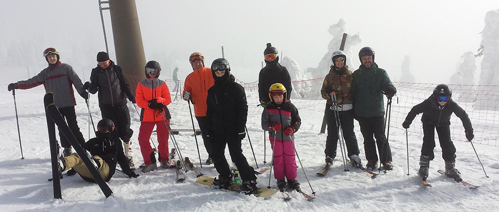 Unsere Wintersportler auf der großen Piste