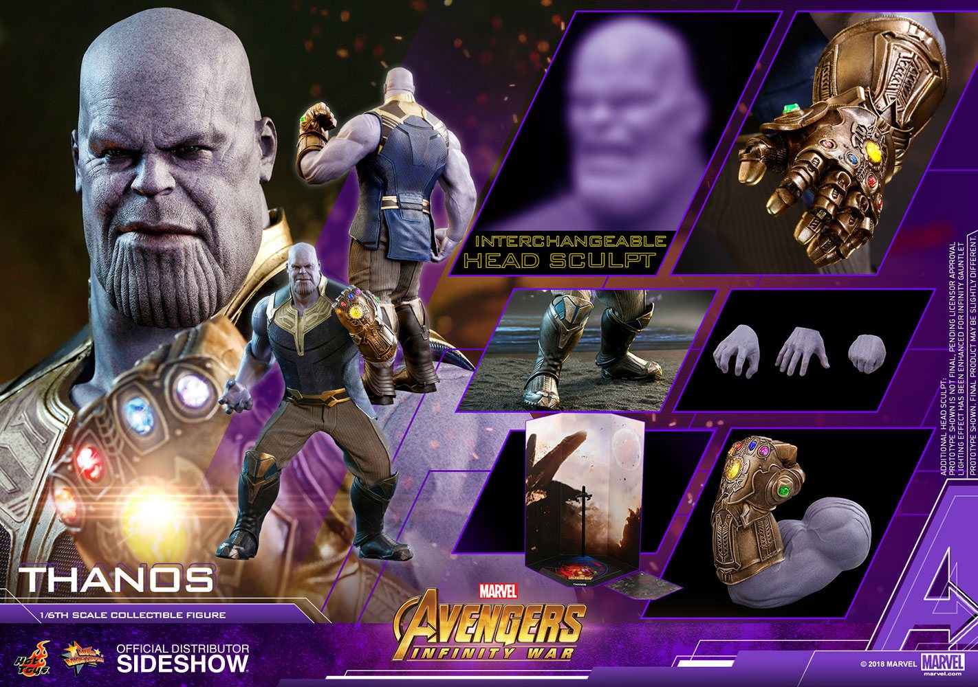 Hot Toys Infinity War Thanos Sixth Scale Figur