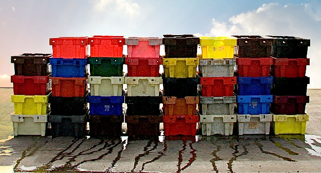 Fish Crates, Wexford - Photograph - Lightfast Pigment Inks on Acid Free Paper