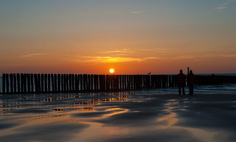 Sonnenuntergang in Zwarte Polder in Holland