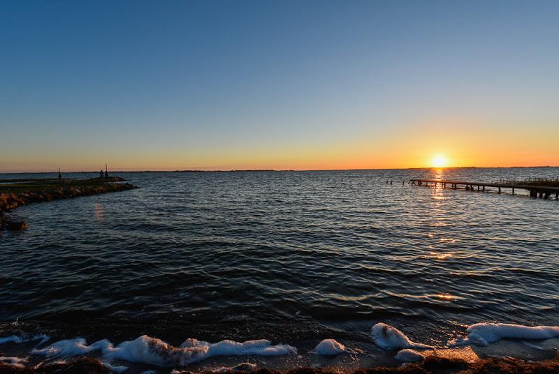 Zirka eine Stunde verbrachte ich am Bodden der Ostsee, ehe es wirklich passte