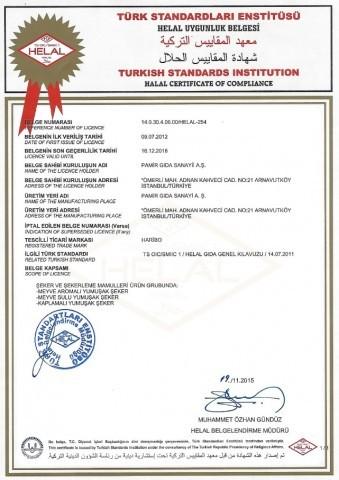 Helal Haribo Zertifikat