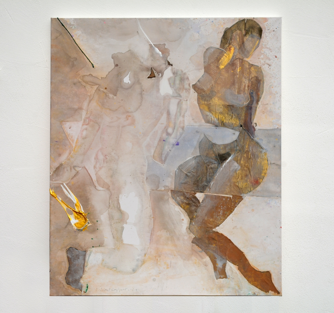 """Calima"" 2017 • acrylic on paper & canvas • 100 x 120 cm"