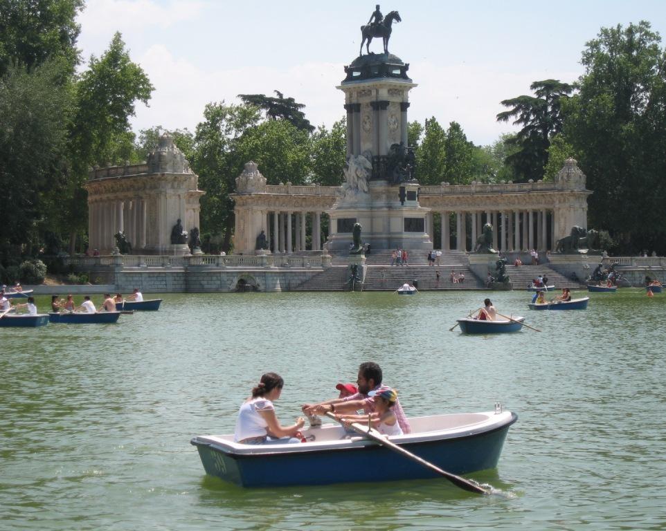 El Parque des Retiro... son lac, ses canots