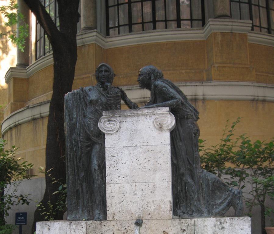conversation dans les jardins de Sorolla