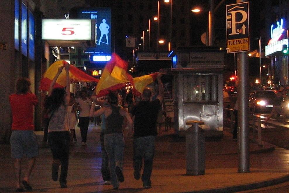 c'est la fête dans les rues de la capitale