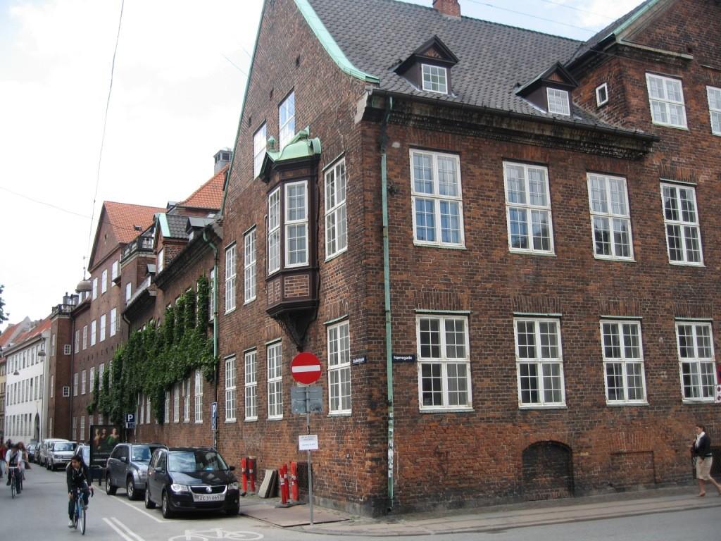 dans les rues de Copenhague, quartier de l'université