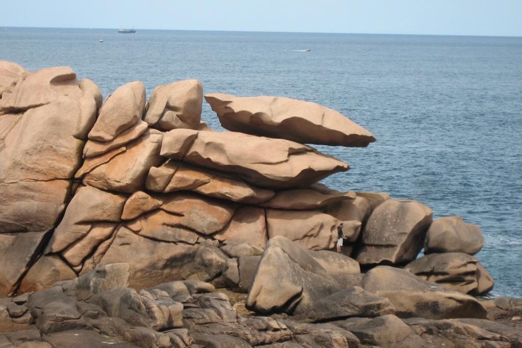 en apesanteur... les falaises de granit rose