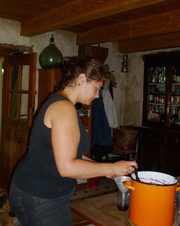 sitôt cuit, la mise en pot...