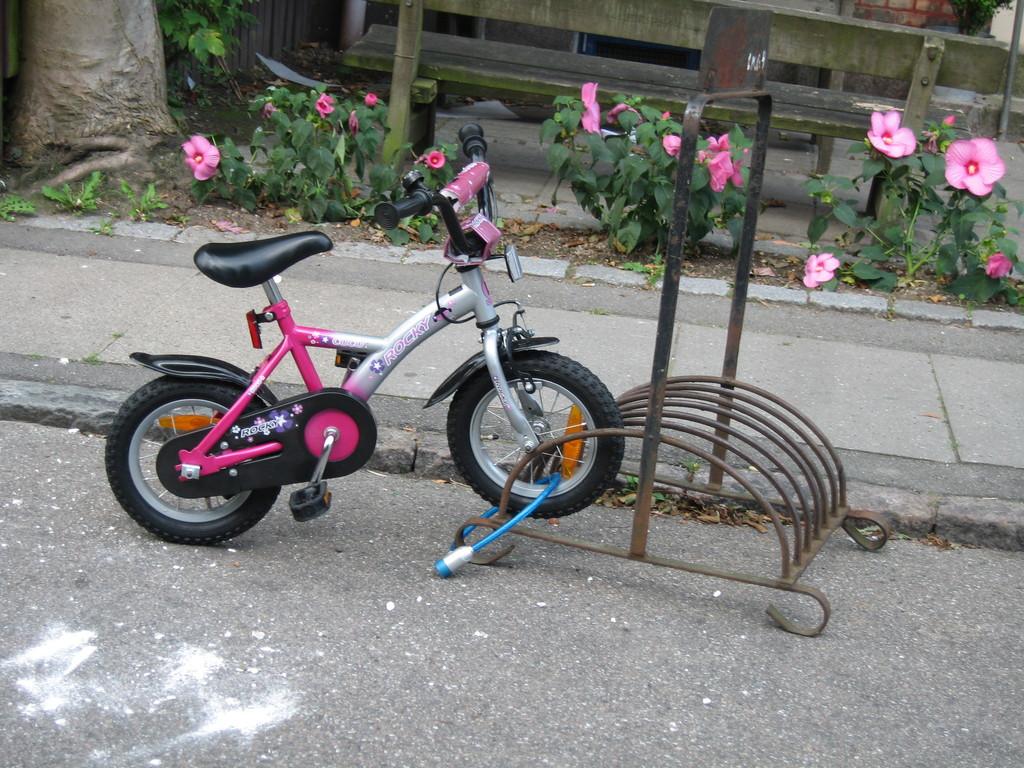 Dans Frederiksberg... même les petits ont leur vélo !