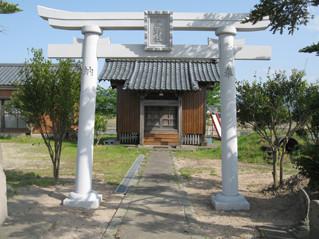 熊野社八幡型鳥居 新鳥居の写真