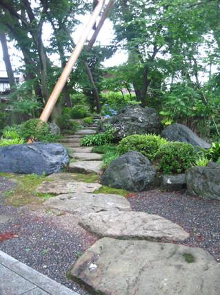 念仏寺の飛石