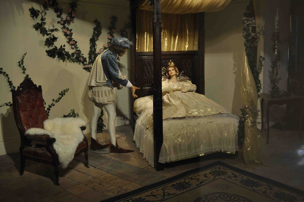 王子の戦いによって倒された魔女。魔法も解けてオーロラ姫も目を覚ましました。