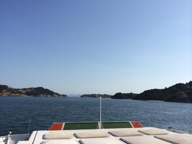 宇野港から出航
