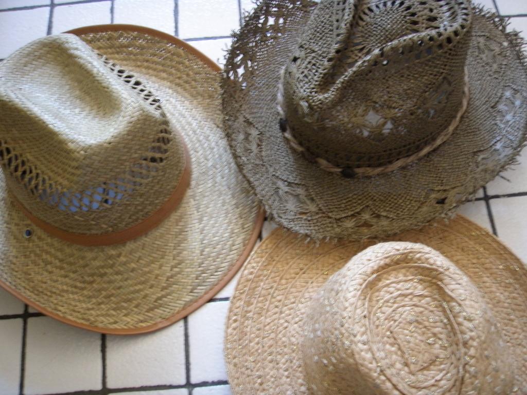 帽子:かちっとした麦わら帽子