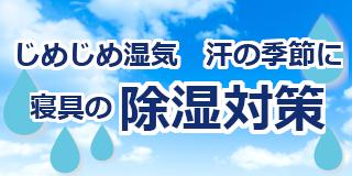 じめじめ湿気、汗の季節に除湿対策