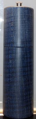 Pfeffermühle, Riegelahorn, blau stabilisiert ca. 18,5 cm